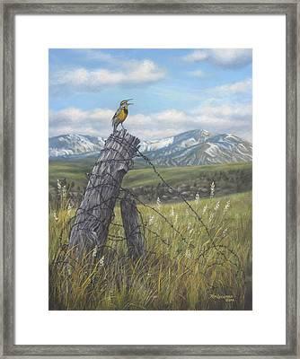 Meadowlark Serenade Framed Print by Kim Lockman