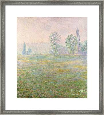 Meadows In Giverny Framed Print by Claude Monet