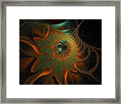 Meandering Framed Print by Amanda Moore