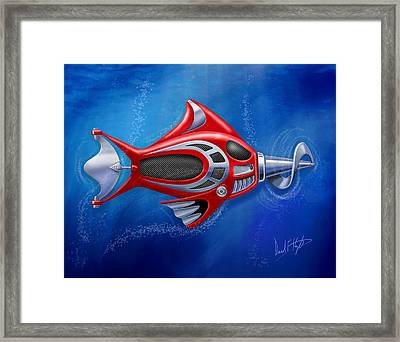 Mechanical Fish 1 Screwy Framed Print by David Kyte
