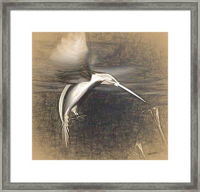 Mechanical Hummingbird Framed Print by Cynthia Decker