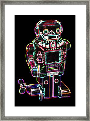 Mechanical Mighty Sparking Robot Framed Print by DB Artist