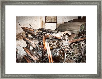 Mechanism Framed Print by Gabriela Insuratelu