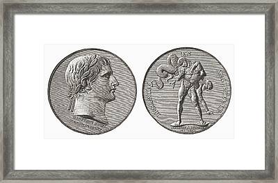 Medal Struck By Napoleon In Framed Print by Vintage Design Pics