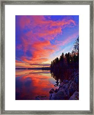 Meddybemps Reflections 9 Framed Print by Bill Caldwell -        ABeautifulSky Photography