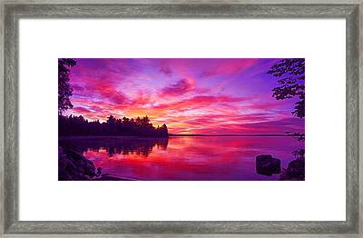 Meddybemps Sunrise Panorama Framed Print by Bill Caldwell -        ABeautifulSky Photography