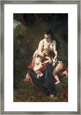 Medea Framed Print by Ferdinand Victor Eugene Delacroix