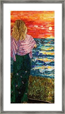Mediterranean Sunset Framed Print by Adriana Zoon