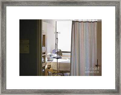 Medical Room Bed Framed Print by Andersen Ross