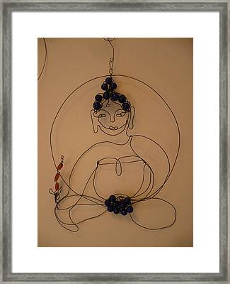 Medicine Buddha Framed Print by Live Wire Spirit