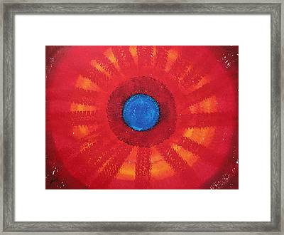 Medicine Wheel Original Painting Framed Print by Sol Luckman