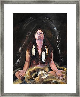 Medicine Woman Framed Print by J W Baker