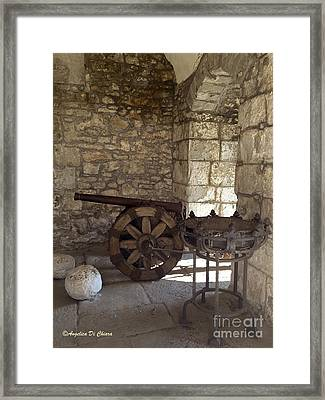 Medieval Cannon- Lucca Framed Print by Italian Art