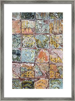 Medieval Floor Tiles Pattern Framed Print by Tim Gainey