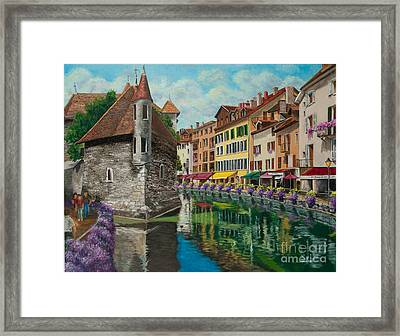 Medieval Jail In Annecy Framed Print by Charlotte Blanchard