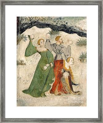 Medieval Snowball Fight Framed Print by Maestro Venceslao