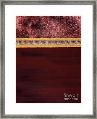 Meditation A Collage In Mixed Media Framed Print by Phil Albone