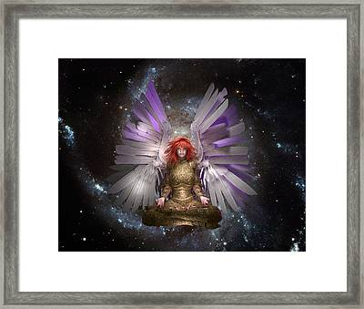 Meditation Angel Framed Print by Charm Angels
