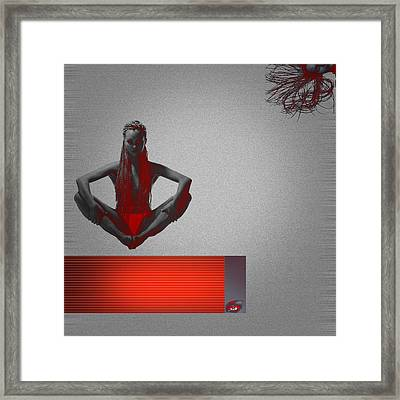 Meditation Framed Print by Naxart Studio