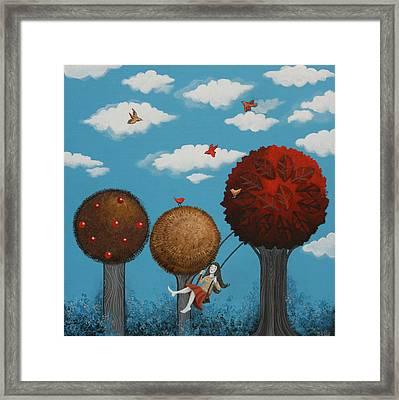 Meditation Under The Trees Framed Print by Graciela Bello