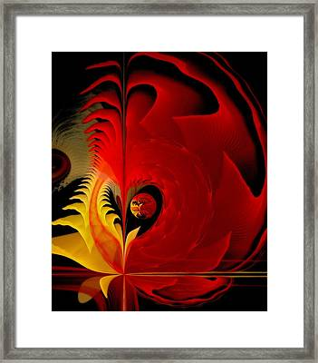 Meditations Of Our Heart Framed Print by Gayle Odsather