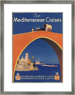 Mediterranean Cruises Framed Print by David Wagner