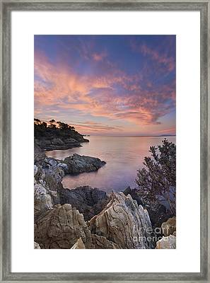 Mediterranean Sunrise Framed Print by Rod McLean