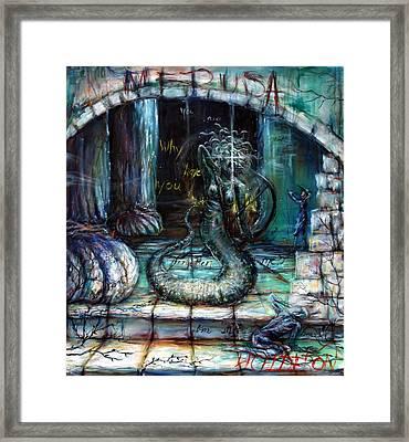 Medusa Framed Print by Heather Calderon