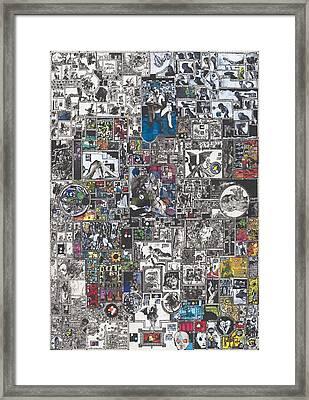 Medusa Maze Framed Print by Zak Smith