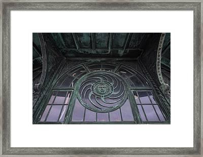 Medusa Window Carousel House Asbury Park Nj Framed Print by Terry DeLuco