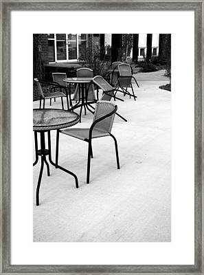 Meet Me At Two Framed Print by Pam Walker