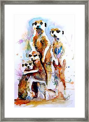 Meet The Family Framed Print by Steven Ponsford