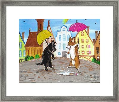 Meeting After The Rain Framed Print by Margaryta Yermolayeva