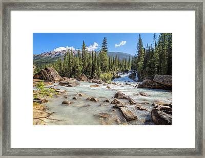 Meeting Of The Waters II Framed Print by Joan Carroll