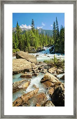 Meeting Of The Waters Framed Print by Joan Carroll