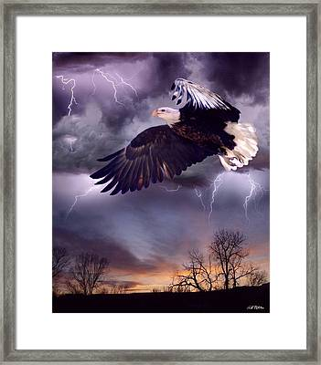 Meeting The Storm Framed Print by Bill Stephens