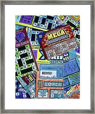 Mega Chance Framed Print by Gwyn Newcombe