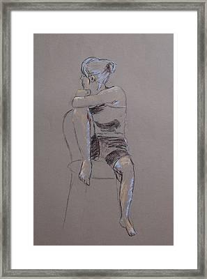 Megan Seated Framed Print by Marina Garrison