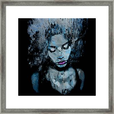 Melancholy And The Infinite Sadness Framed Print by Marian Voicu