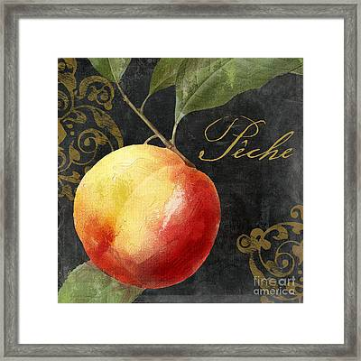 Melange Peach Peche Framed Print by Mindy Sommers