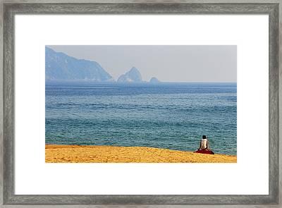 Melaque Surf Framed Print by Skip Hunt