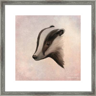 Meles Meles Framed Print by John Edwards