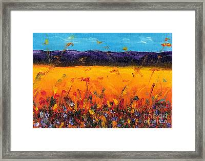 Melissa's Meadow Framed Print by Frances Marino