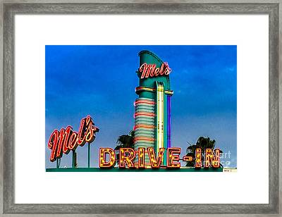 Mels Drive In Framed Print by Gary Keesler