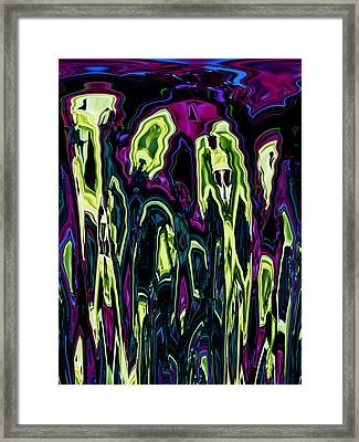Meltdown Framed Print by Monica Werner