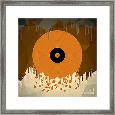 Melting Music Framed Print by Bedros Awak
