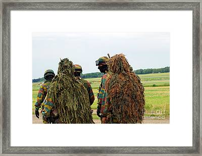 Members Of The Special Forces Group Framed Print by Luc De Jaeger