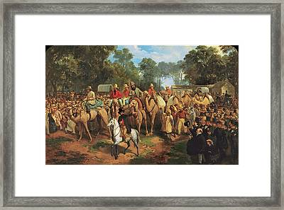 Memorandum Of The Start Of The Exploring Expedition Framed Print by Nicholas Chevalier