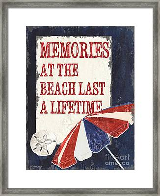Memories At The Beach Framed Print by Debbie DeWitt