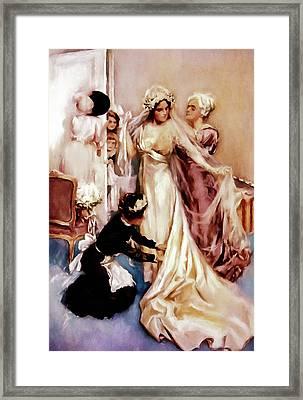 Memories Of A Bride Framed Print by Georgiana Romanovna